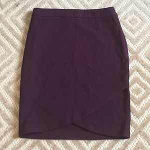 Lila Rose Maroon Pencil Skirt